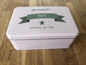 PERSONALISED GRANDAD'S Biscuits Tin Present ANY NAME Cake ~ Sweets Gift Birthday